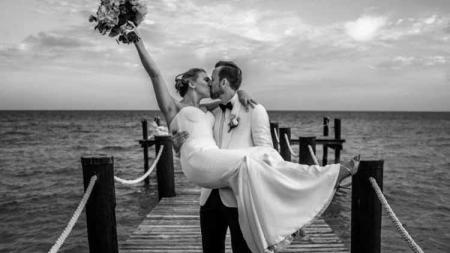 Harry Kane dan Kate Goodland resmi menikah - INDOSPORT