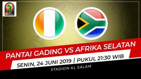 Pertandingan Pantai Gading vs Afrika Selatan. Grafis: Indosport.com - INDOSPORT
