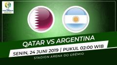 Indosport - Pertandingan Qatar vs Argentina. Grafis: Indosport.com
