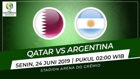 Pertandingan Qatar vs Argentina. Grafis: Indosport.com - INDOSPORT