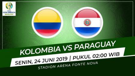Pertandingan Kolombia vs Paraguay. Grafis: Indosport.com - INDOSPORT