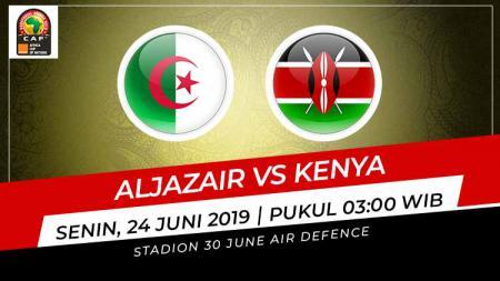 Pertandingan Aljazair vs Kenya. Grafis: Indosport.com - INDOSPORT