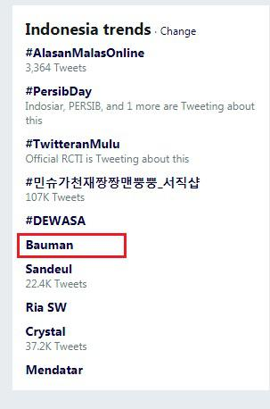 Jonatan Bauman masuk Trending Twitter Indonesia usai Persib Bandung ditahan imbang Madura United, Minggu (23/06/2019). Copyright: Twitter