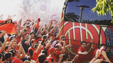 Masyarakat antusias menyambut RCD Mallorca lolos ke LaLiga Spanyol.