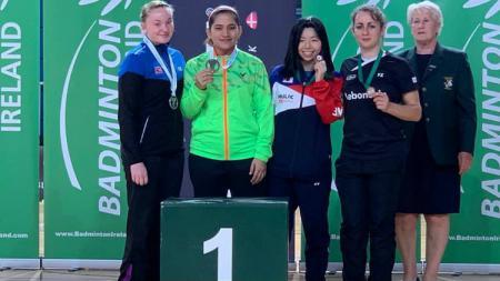 Leani Ratri Oktila meraih medali emas di Ireland Para-Badminton International. - INDOSPORT
