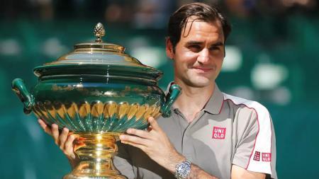 Roger Federer berhasil mengalahkan Goffin di kejuaraan Halle - INDOSPORT