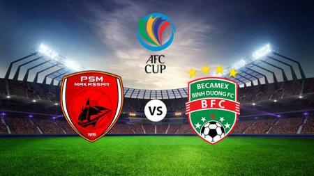 Ilustrasi laga PSM Makassar vs Becamex Binh Duong di Piala AFC 2019, Rabu (26/06/19). - INDOSPORT
