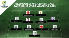Indosport - Starting xi terbaik selama fase grup Copa America 2019