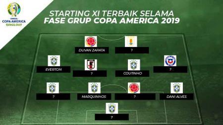 Starting xi terbaik selama fase grup Copa America 2019 - INDOSPORT