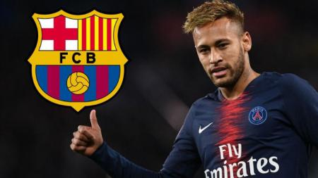 Neymar dikabarkan tidak betah di Paris Saint-Germain dan ingin kembali ke Barcelona di bursa transfer musim panas 2019. (Foto: talksport.com) - INDOSPORT