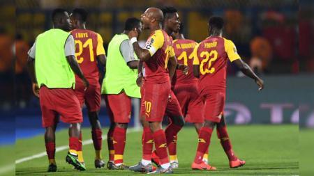 Laga sengit antara Ghana vs Tunisia akan tersaji dalam lanjutan 16 besar Piala Afrika, Selasa (09/07/19), di Ismailia Stadium. - INDOSPORT