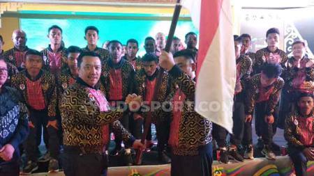 Menteri Pemuda dan Olahraga (Menpora) Imam Nahrawi berharap lahir Egy Maulana Vikri baru dari belahan Indonesia Timur yang bisa mengharumkan nama Indonesia di kancah internasional. - INDOSPORT