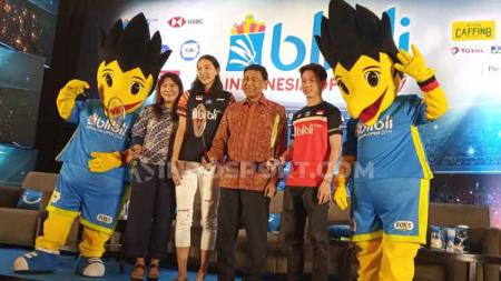 Jumpa pers persiapan digelarnya Indonesia open 2019 di Istora Senayan. - INDOSPORT