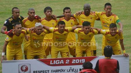 Skuat Sriwijaya FC pada laga saat melawan Perserang. - INDOSPORT