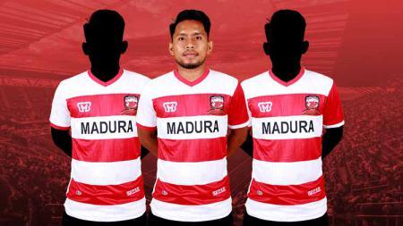 Tiga pemain Madura United yang bakal sulitkan perjuangan Persebaya, di antaranya Adik Vermansah. - INDOSPORT