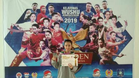 Putri Chris John, Maria Luna Ferisha menjuarai Kejurnas Wushu di Pangkal Pinang - INDOSPORT