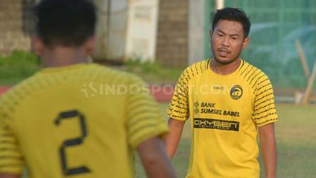 Pemain Borneo FC Edy Gunawan yang dipinjamkan ke Sriwijaya FC musim ini. - INDOSPORT