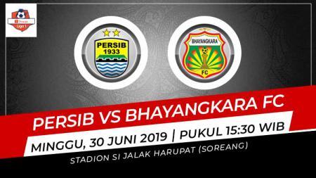 Pertandingan Persib Bandung vs Bhayangkara FC. Grafis: Indosport.com - INDOSPORT