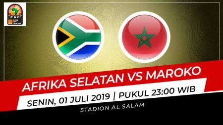 Pertandingan Afrika Selatan vs Maroko. Grafis: Indosport.com - INDOSPORT