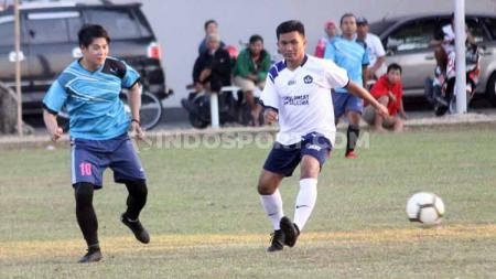 Mantan bintang Persija Jakarta saat juara Liga Indonesia 2001, Agus Supriyanto. - INDOSPORT