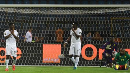 Situasi pertandingan penyisihan Grup F Piala Afrika 2019 antara Kamerun vs Ghana, Minggu (30/06/19) dini hari WIB. - INDOSPORT