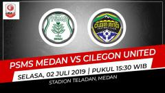 Indosport - Pertandingan PSMS Medan vs Cilegon United. Grafis: Indosport.com
