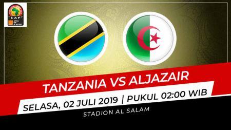 Pertandingan Tanzania vs Aljazair. Grafis: Indosport.com - INDOSPORT