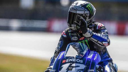 Berikut tersaji hasil kualifikasi MotoGP 2020 San Marino di Sirkuit Misano pada Sabtu (12/09/20), di mana Maverick Vinales mampu menjadi yang tercepat. - INDOSPORT