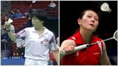 Indosport - Lim Xiaoqing (kiri) dan Yao Jie, pebulutangkis China yang membelot dari negaranya.
