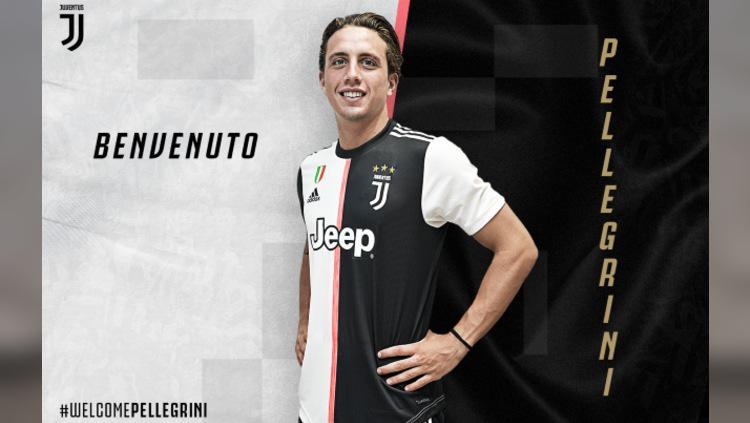 Luca Pellegrini saat resmi bergabung ke Juventus dari AS Roma (Foto: Juventus.com) Copyright: Juventus.com