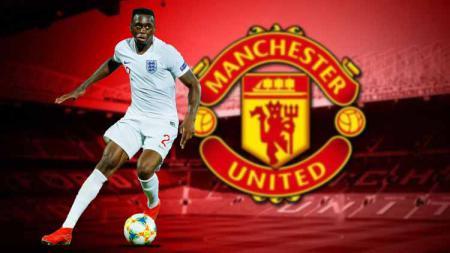 Kegemilangan Aaron Wan-Bissaka yang mencetak gol di laga Liga Inggris Newcastle United vs Manchester United membuat Bruno Fernandes takjub. - INDOSPORT