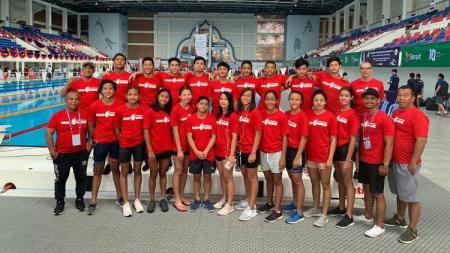 Kontingen renang Indonesia di ajang 43rd SEA Age Group Swimming Championship 2019 Kamboja. - INDOSPORT