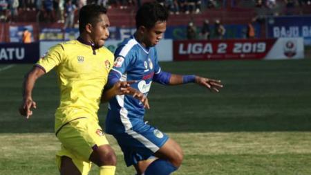 Situasi duel pertandingan PSIM Yogyakarta vs Persik Kediri - INDOSPORT