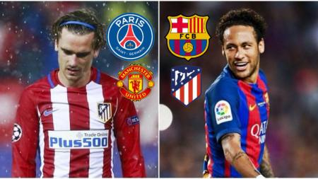 Konspirasi bursa transfer: Neymar kembali ke Barcelona dan Griezmann ke Paris Saint-Germain, Atletico Madrid siap salip Manchester United. (Foto: Joe.co.uk) - INDOSPORT