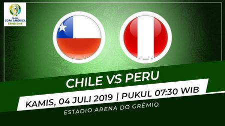 Pertandingan Chile vs Peru. Grafis: Indosport.com - INDOSPORT
