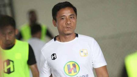 Kepala pelatih Barito Putera Yunan Helmi mewaspadai tren positif Arema FC yang kerap pesta gol ke gawang tim-tim besar. - INDOSPORT