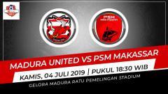 Indosport - Prediksi Madura United vs PSM Makassar