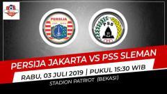 Indosport - Susunan Pemain Pertandingan Liga 1 2019: Persija Jakarta vs PSS Sleman
