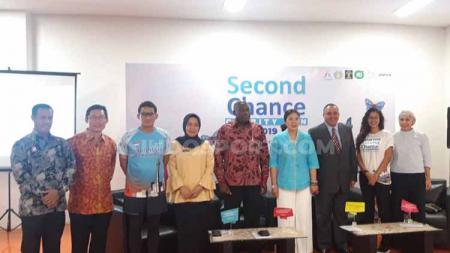 Konferensi Pers Second Chance Charity Run 2019 di SCBD Jakarta, Selasa (02/07/19). - INDOSPORT