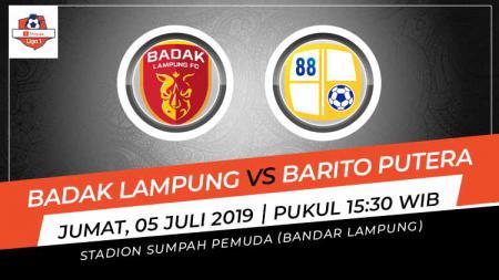 Berikut link live streaming pekan ketujuh Liga 1 2019 antara Badak Lampung vs Barito Putera. - INDOSPORT