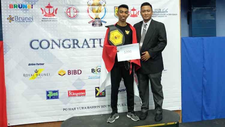 Tim Karate Indonesia berhasil menyabet juara umum di Kejuaraan Karate Internasional Yura Dupa Khodadad Cup di Brunei Darussalam. Copyright: KBRI Bandar Seri Begawan