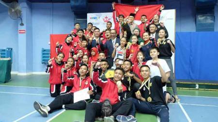 Tim Karate Indonesia berhasil menyabet juara umum di Kejuaraan Karate Internasional Yura Dupa Khodadad Cup di Brunei Darussalam. - INDOSPORT