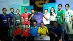 Indosport - Launching jersey baru Persita Tangerang bersama SOS Children's Villages Indonesia, Rabu (3/7/19).