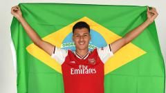 Indosport - Gabriel Martinelli, bintang muda Brasil dari klub Liga Inggris, Arsenal, mendapat pujian dari Mikel Arteta.