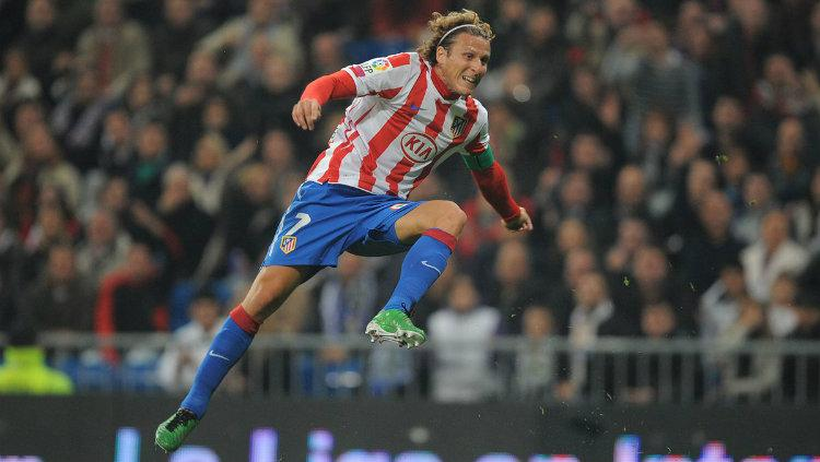 Eks striker Atletico Madrid Diego Forlan. Copyright: Once A Metro