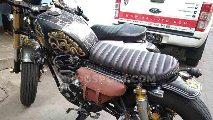 Detail motor custom Scorpio 225 milik Wawan Hendrawan. Foto : Nofik Lukman Hakim Copyright: Nofik Lukman Hakim/INDOSPORT