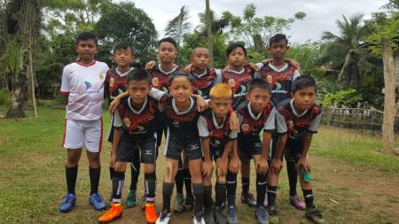 Pemain Bank Sulselbar FC yang menjadi wakil Sulsel di Putaran Nasional Piala Menpora U-12. - INDOSPORT