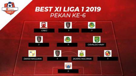 Starting terbaik Liga 1 2019 pekan-6 - INDOSPORT