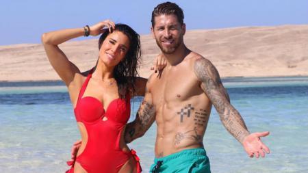 Sergio Ramos berbulan madu dengan Pilar Rubio di Mesir. - INDOSPORT