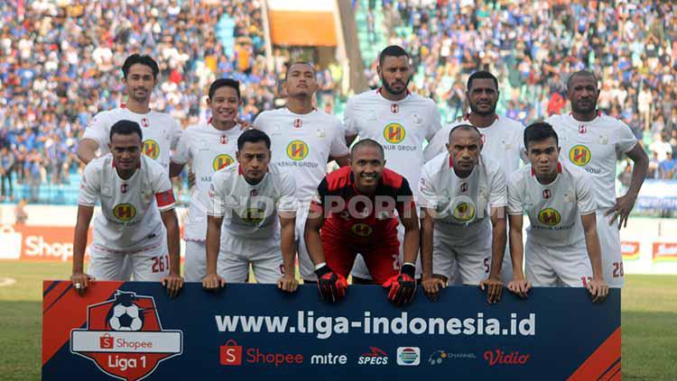 Kali ini, tim Laskar Antasari menahan tuan rumah Perseru Badak Lampung FC, 3-3 di Stadion Sumpah Pemuda, Jumat (05/07/19). Foto: Ronald Seger Prabowo/INDOSPORT Copyright: Ronald Seger Prabowo/INDOSPORT